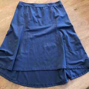 J. JILL Perfect Pima Blue Skirt High Low  XL